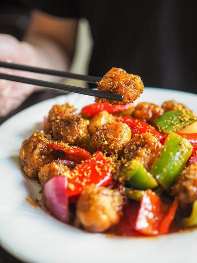 脆皮吊燒雞 / 花雕鹽焗蝦 / 桂花糖醋骨 (夜遊人美食)
